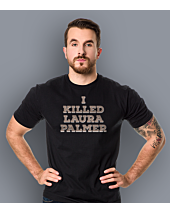 I killed Laura Palmer Twin Peaks T-shirt męski Czarny S
