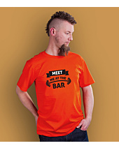 Meet me at the bar T-shirt męski Pomarańczowy S