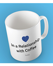Relationship with a coffee Kubek Biały Universal