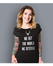 True Detective - Get the world T-shirt damski Czarny XS