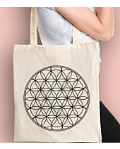 THE FLOWER OF LIFE Torba na zakupy Naturalna Universal