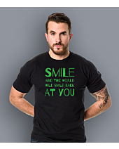 Smile and the world will smile T-shirt męski Czarny S