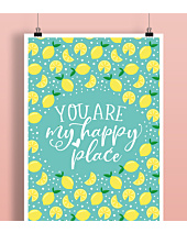 You're my happy place Plakat Biały A2