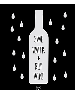 Save water Buy wine