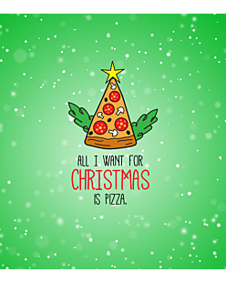 Christmas Pizza Fullprint