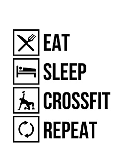 Eat Sleep Crossfit Men