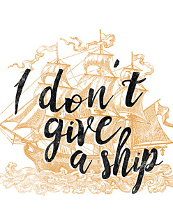 I don't give a ship