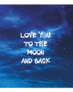 Love you to the moon - Fullprint