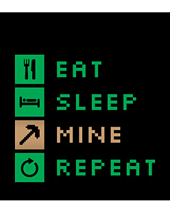 Minecraft Eat Sleep Mine Repeat