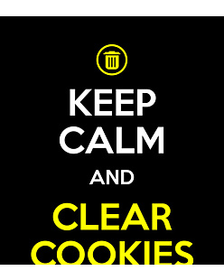 Keep calm and clear cookies