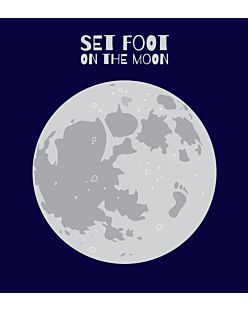 SET FOOT ON THE MOON