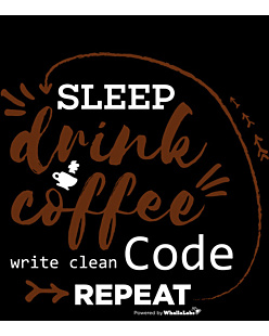Sleep Drink Coffe Wite Clean Code Repeat