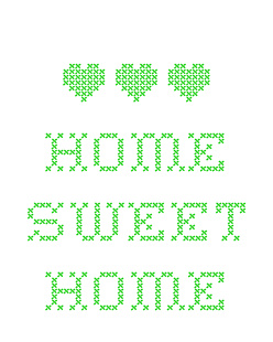 Home Sweet Home - Zielony