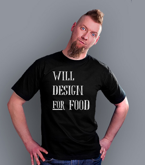 Will design for food bkw