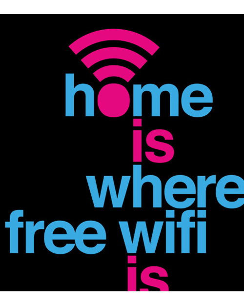 Home is where free WiFi is