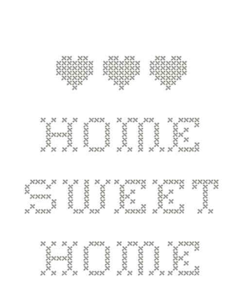 Home Sweet Home - Szary