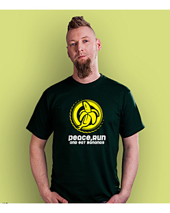 Peace run bananas T-shirt męski Ciemnozielony S