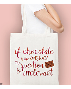 Chocolate Is The Answer Torba na zakupy Naturalna Universal