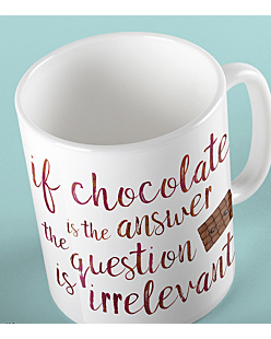 Chocolate Is The Answer Kubek Biały Universal