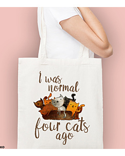 I was normal 4 cats ago Torba na zakupy Naturalna Universal