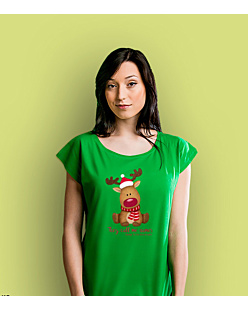 Rudolph The Red Nosed Reindeer T-shirt damski Zielony XS
