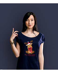 Rudolph The Red Nosed Reindeer T-shirt damski Granatowy XS