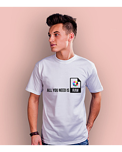 All you need is RAW T-shirt męski Biały S