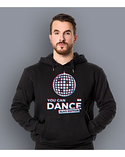 You Can Dance Męska bluza z kapturem Czarna S