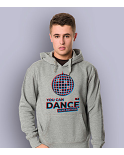 You Can Dance Męska bluza z kapturem Jasny melanż S