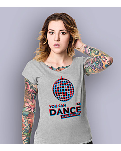 You Can Dance T-shirt damski Jasny melanż XS