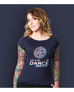 You Can Dance T-shirt damski Granatowy XS