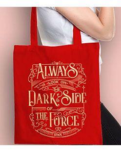 Always look on the DarkSide of the Force Torba na zakupy Czerwona Universal