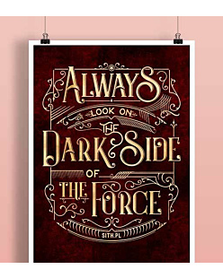 Always look on the DarkSide of the Force Plakat Biały A2