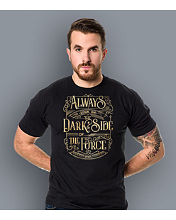 Always look on the DarkSide of the Force T-shirt męski Czarny S
