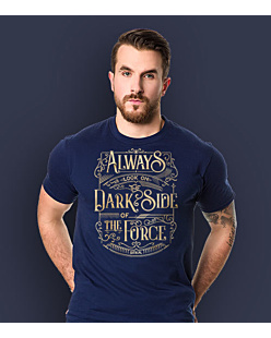 Always look on the DarkSide of the Force T-shirt męski Granatowy XXL