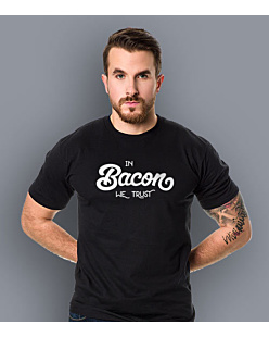 In Bacon We trust T-shirt męski Czarny XXL