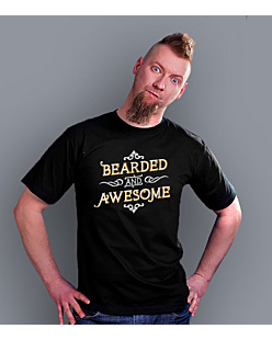 Bearded and awesome T-shirt męski Czarny S