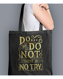 Do or do not - there is no try  Torba na zakupy Czarna Universal
