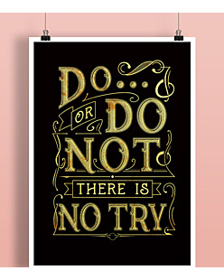 Do or do not - there is no try  Plakat Biały A2