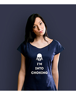 I'm into choking T-shirt damski Granatowy XXL
