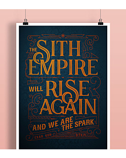 Sith Empire will rise again Plakat Biały A2