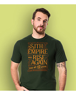 Sith Empire will rise again T-shirt męski Ciemnozielony S