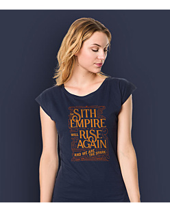 Sith Empire will rise again T-shirt damski Granatowy XS