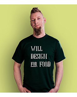 Will design for food bkw T-shirt męski Ciemnozielony S