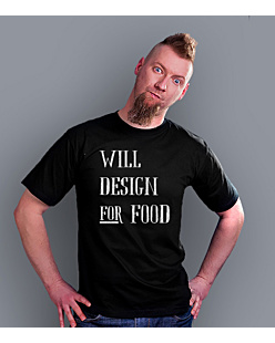 Will design for food bkw T-shirt męski Czarny S