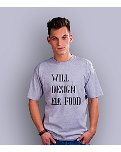 Will design for food bkw T-shirt męski Jasny melanż S