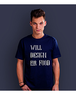 Will design for food bkw T-shirt męski Granatowy XXL