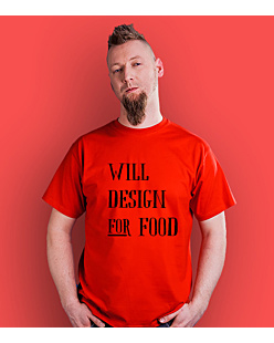 Will design for food bkw T-shirt męski Czerwony S