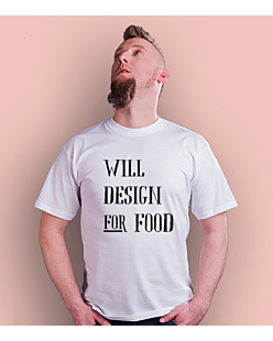 Will design for food bkw T-shirt męski Biały S