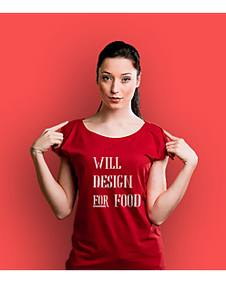 Will design for food bkw T-shirt damski Czerwony XS